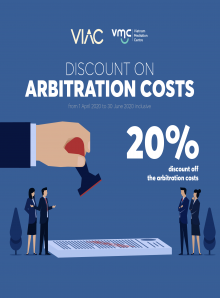 Discount on arbitration costs and mediation costs due to COVID-19