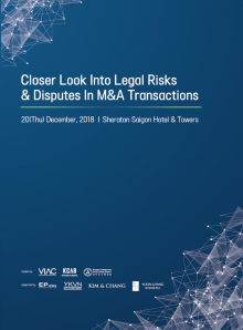 Workshop on Closer look into Legal risks & Disputes in M&A transactions