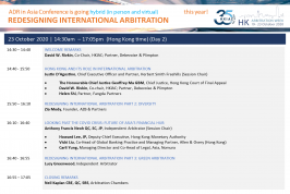 ADR in Asia Conference: Redesigning International Arbitration (Day 1 & 2)