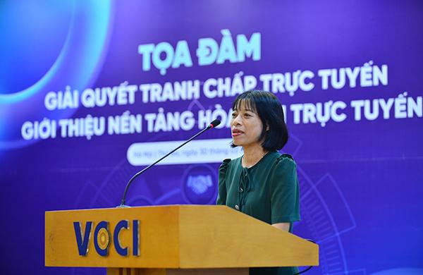 Bà Nguyễn Thị Mai, Phó Cục trưởng, Cục Bổ trợ Tư pháp, Bộ Tư pháp